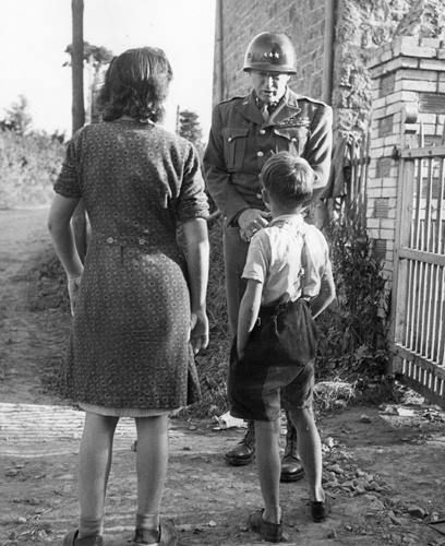 George Patton Speaking With French Civilians August 1944