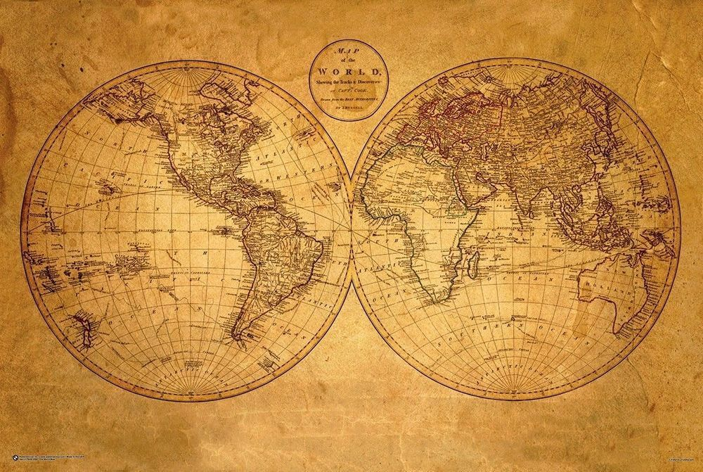 Old world map poster 24 x 36 antique geography vintage 10500 old world map poster 24 x 36 antique geography vintage 10500 in posters ebay gumiabroncs Choice Image