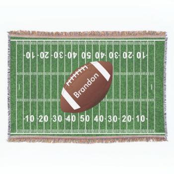 Football Field Design Throw Blanket Zazzle Com Designer Throws Custom Throw Blankets Throw Blanket