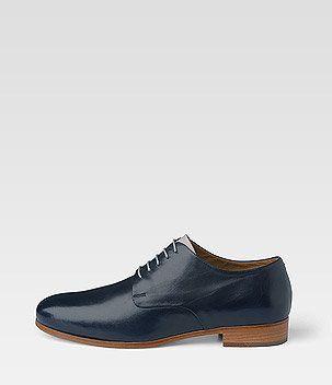 Alberto Fermani blue Derby shoes