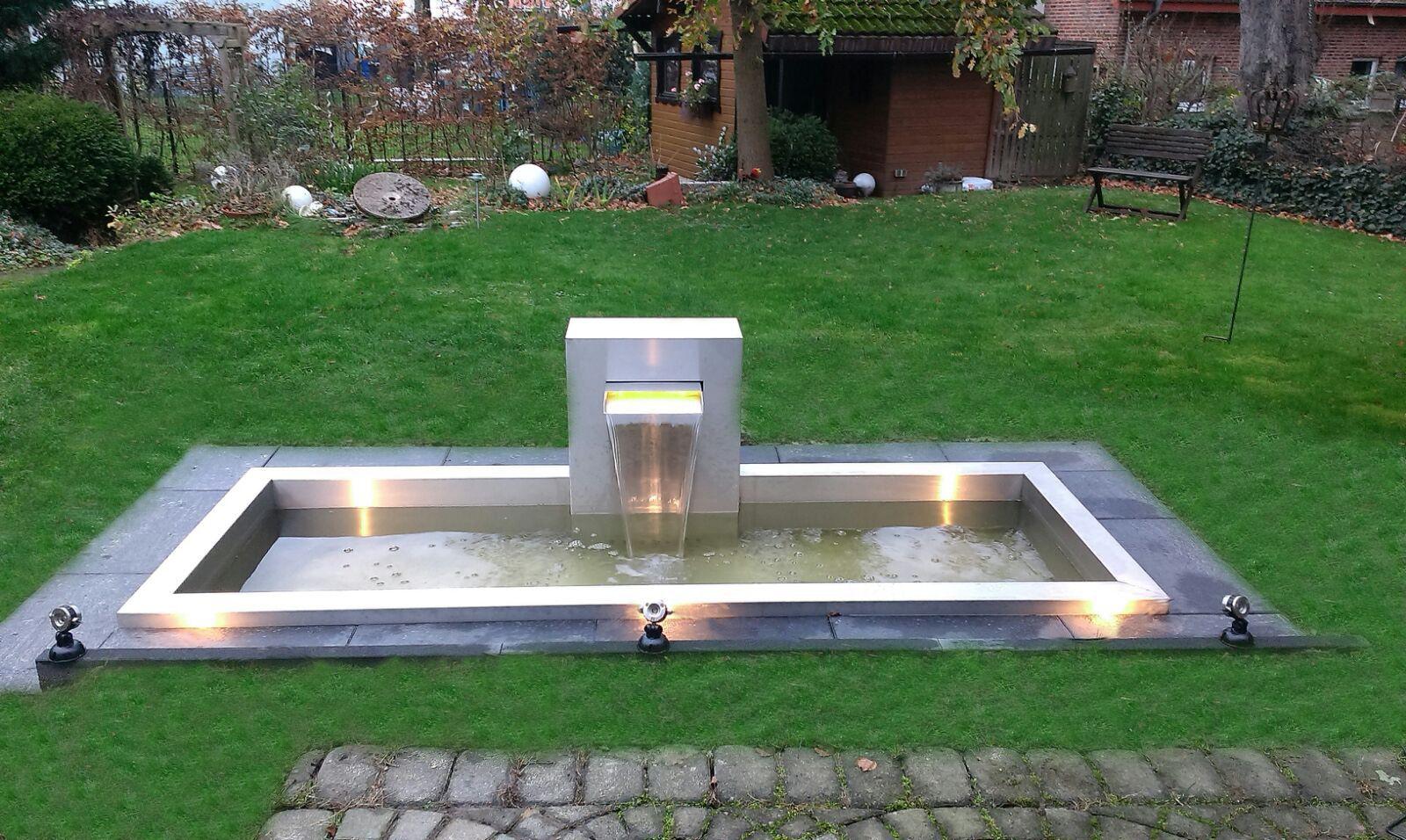 Wasserrinne Edelstahl Garten Garten Im Quadrat Hochbeet In L Form