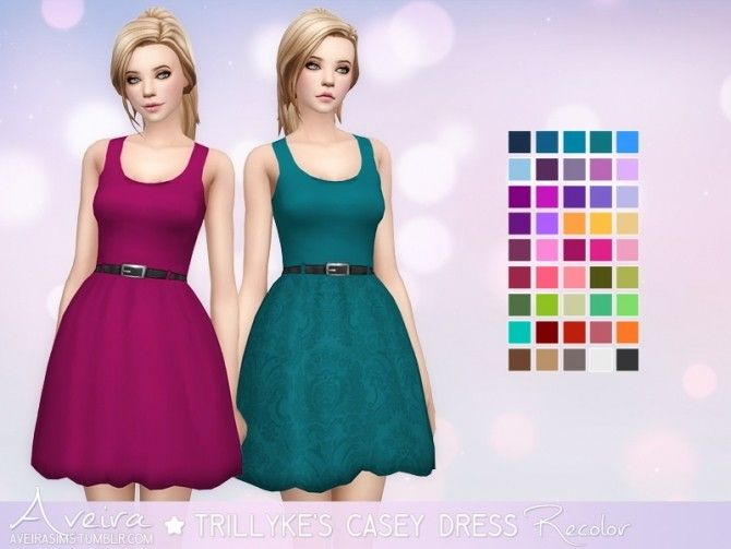 Trillyke's Casey Dress Recolor at Aveira Sims 4