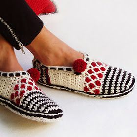 Warme Sloffen Haken Met Gratis Patroon Haakpatronen Crochet