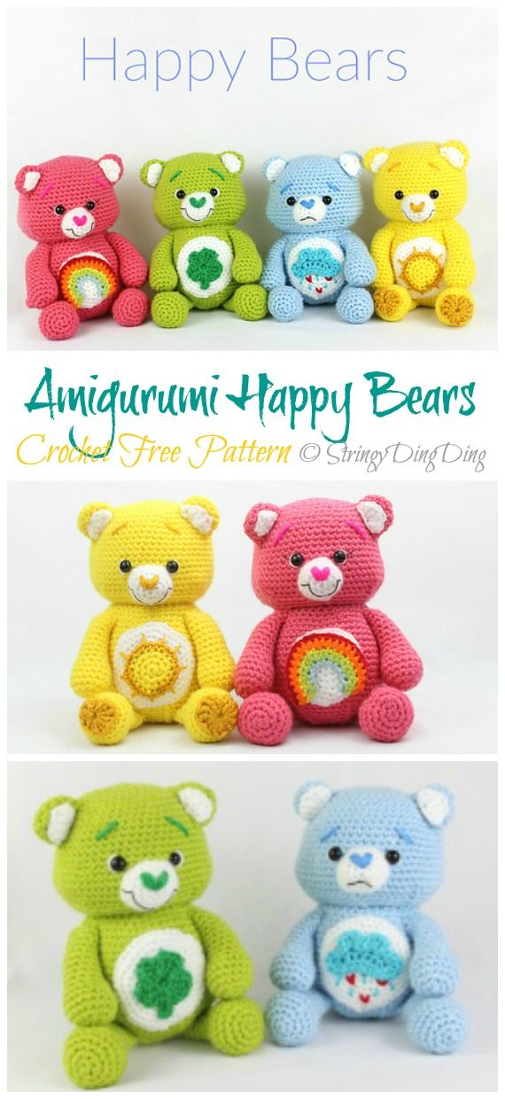 Amigurumi Happy Bears Crochet Free Pattern - Crochet & Knitting