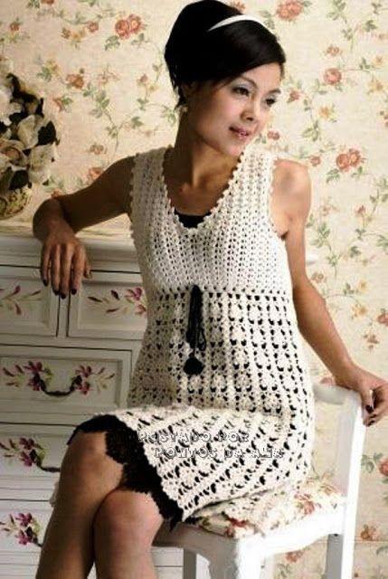 Vestido simples de croche