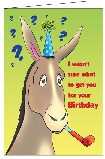 Birthday Donkey Really Big Greeting Card Cottage Cutz Pin The Tail