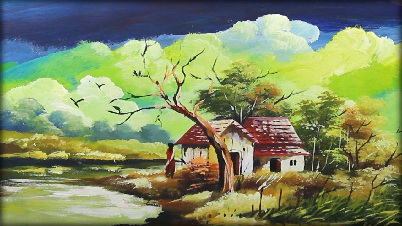 Beautiful Nature Painting Acrylic Painting Tutorial Landscape