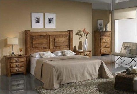 Dormitorios de matrimonio rusticos buscar con google for Dormitorio rustico