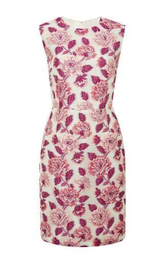 Floral-cloqué dress by GIAMBATTISTA VALLI Now Available on Moda Operandi