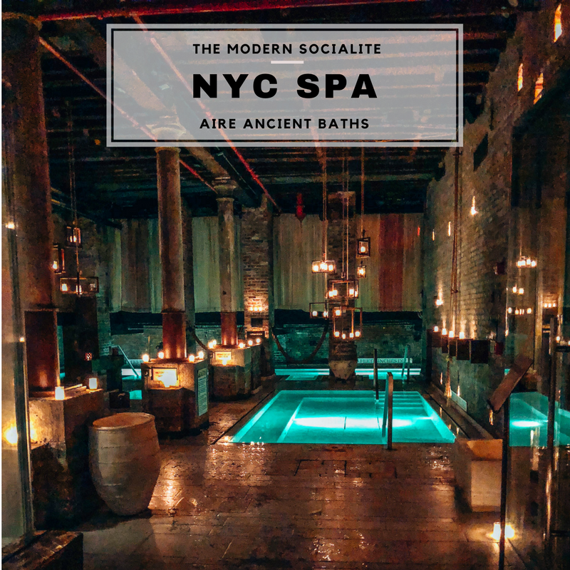 New York City Spa experience at Aire Ancient Baths