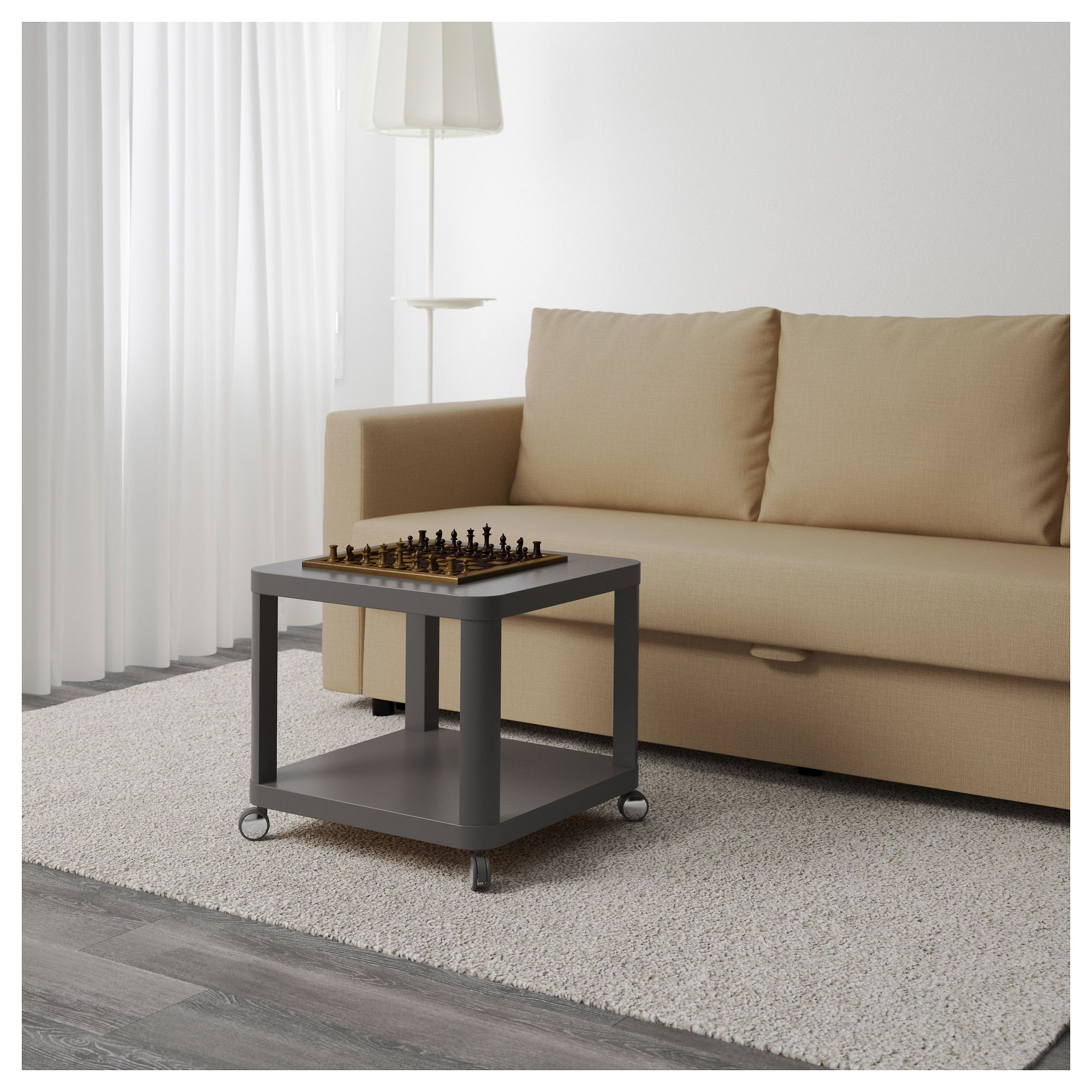 IKEA - TINGBY Side Table On Casters Gray