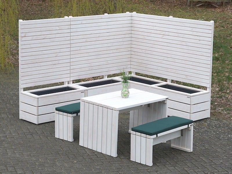 Sichtschutz Gartenmöbel Holz Set 1 Oberfläche