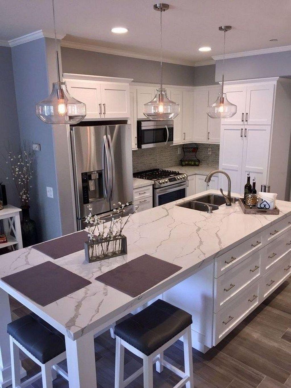 49 Fancy White Kitchen Design And Décor Ideas That Looks ...
