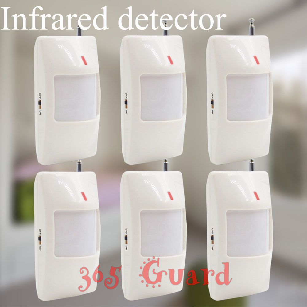 $35.40 (Buy here: http://appdeal.ru/5v8p ) Free shipping new GSM Alarm System 6pcs White infrared detector 433 MHZ sensor for wireless Home Burglar Security Alarm System for just $35.40