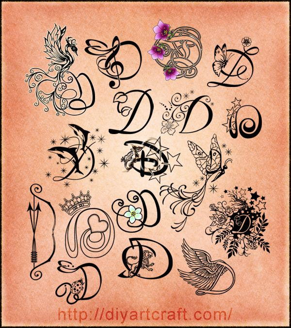 Pin By Nikki Hernandez On Imaginative Typography Letter D Tattoo Monogram Tattoo D Tattoo