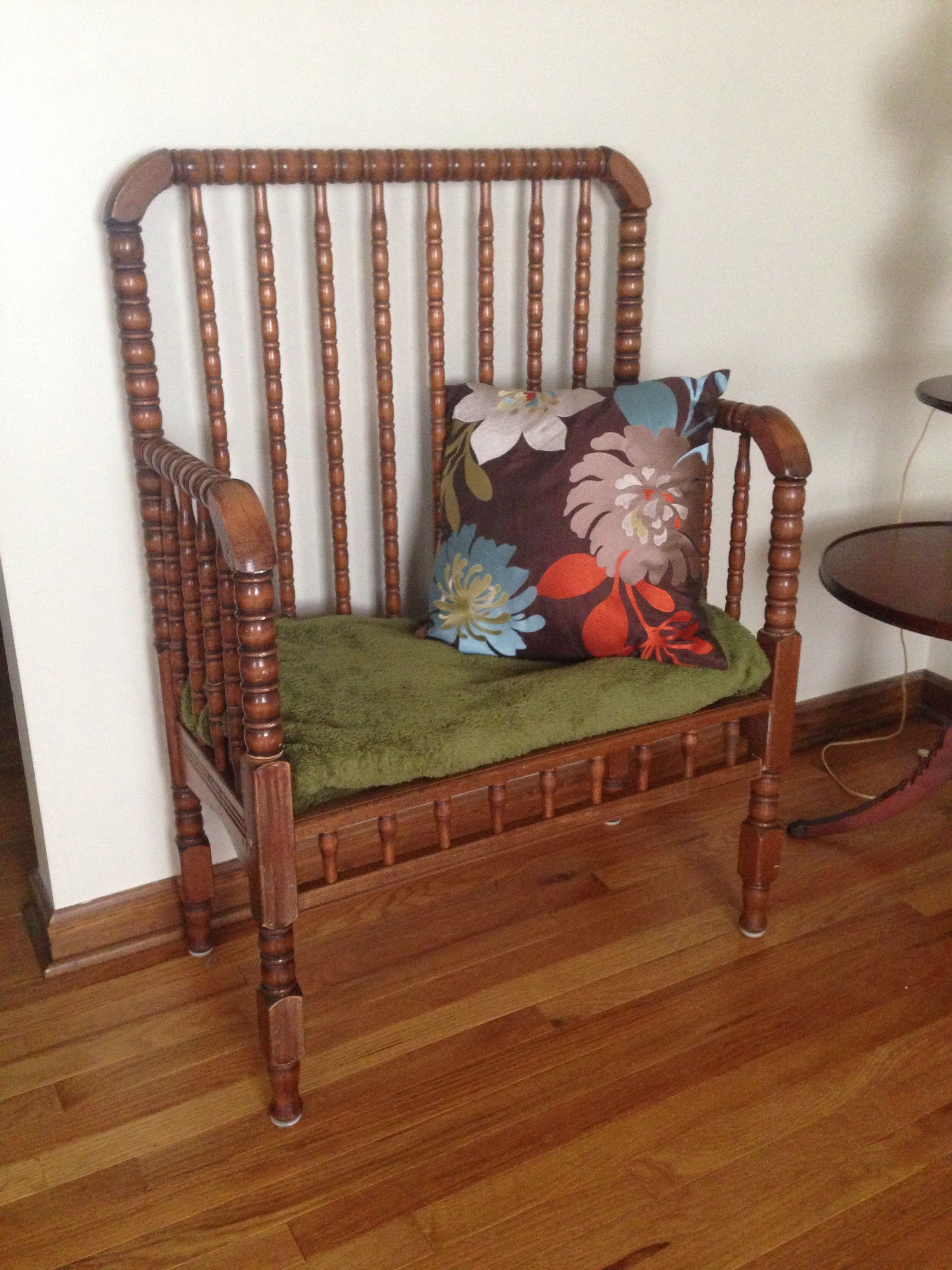 Awesome Diy Turn Your Old Baby Crib Into A Bench Seat My Dad Made Caraccident5 Cool Chair Designs And Ideas Caraccident5Info