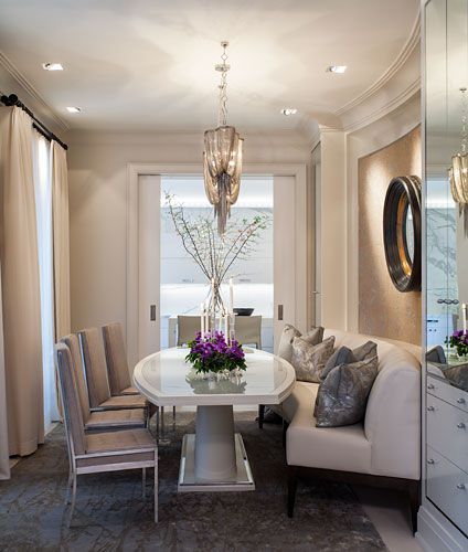 Luxury Fine Home Interior: Dining Room: So Elegant. Nice Detail With Built-in