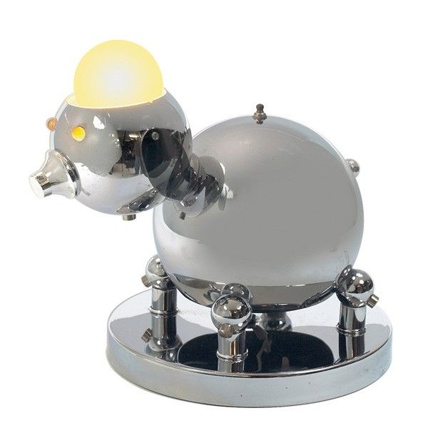 818 Torino Robot Puppy Lamp Mar 04 2012 Treadway Toomey Auctions In Il Lamp Light Eyes Chrome