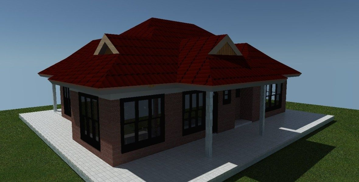 2 bedroom simple house plan for a small family Muthurwa
