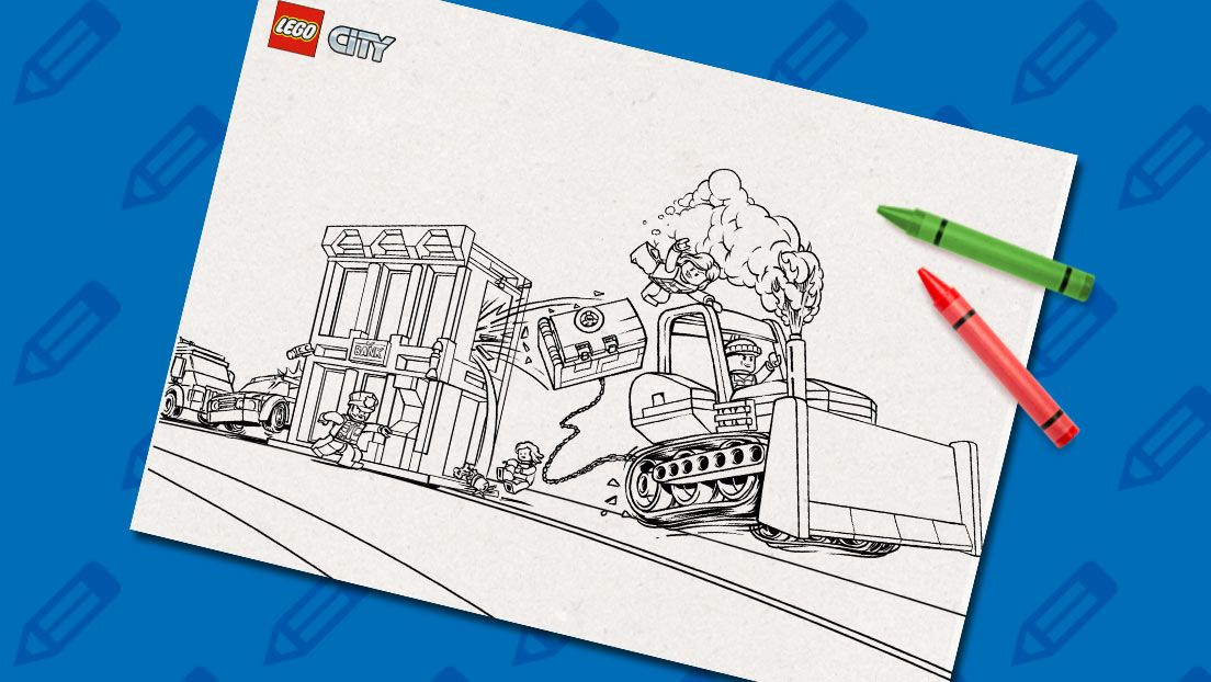 Catch the crooks! | LEGO® Coloring Sheets | Pinterest
