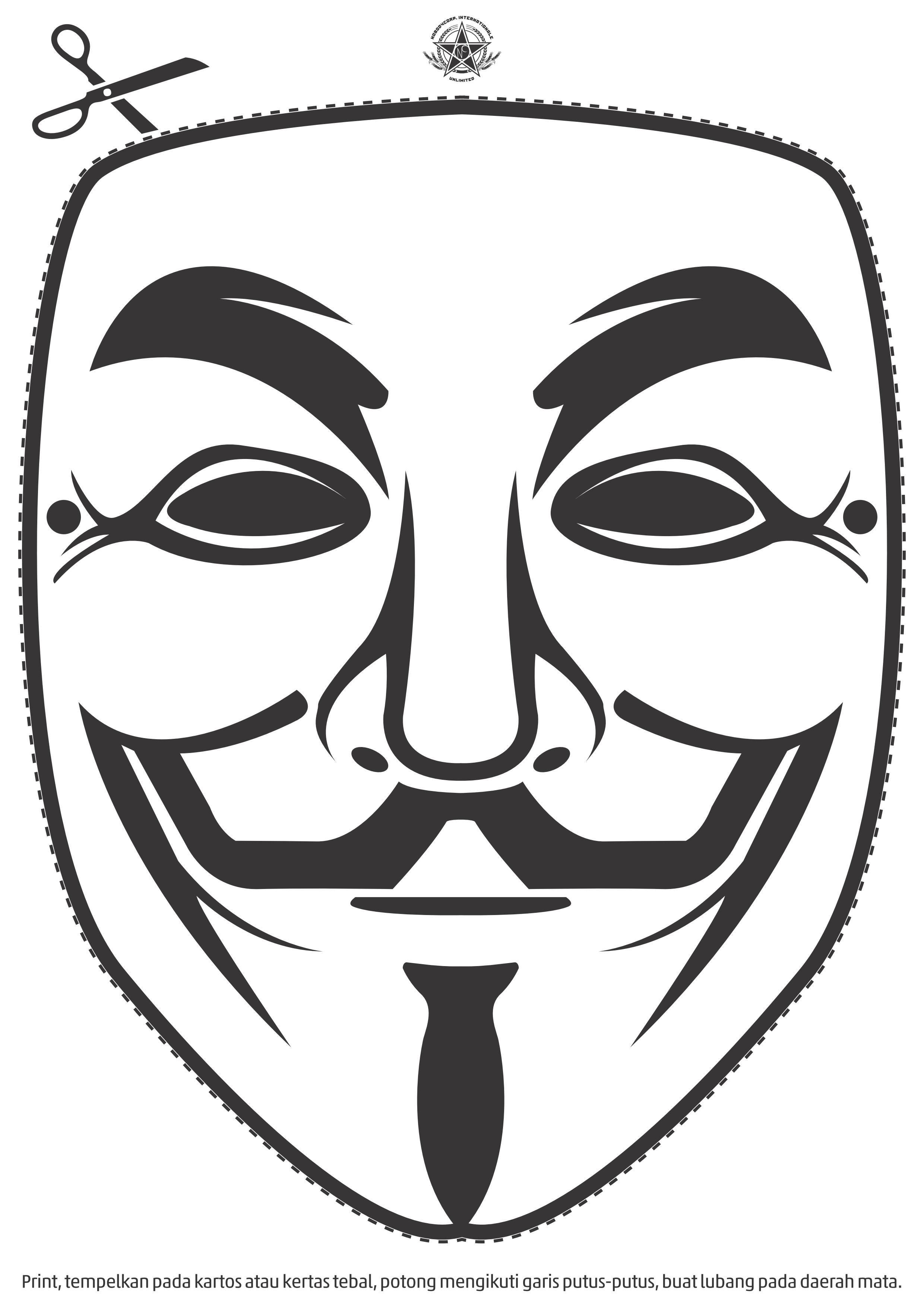 V For Vendetta Mask Stencil Occupy | Le Camera Pol...