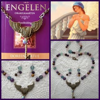 365 dagen creatief: Dag 135 - Gevleugeld Hart Ketting / Winged Heart Necklace