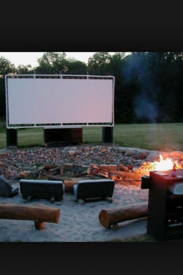 I can watch movies in my backyard