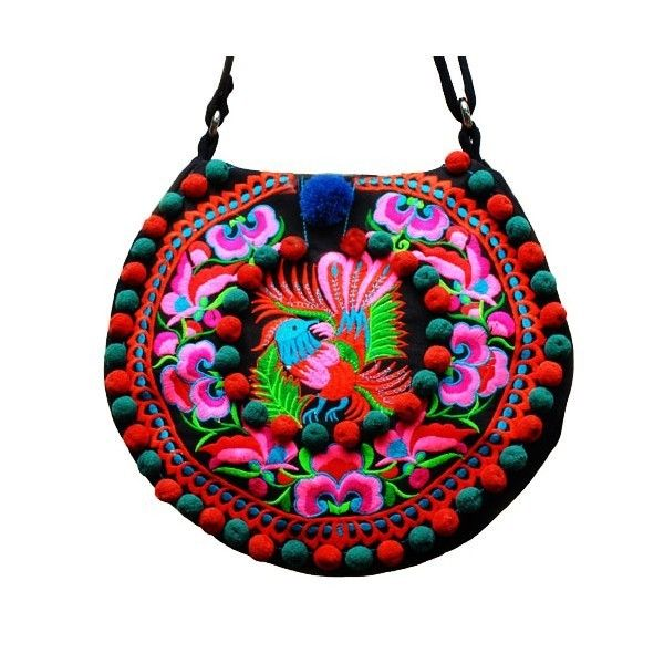 LF Fashion Ethnic Embroidered Round Bag A22 Surface   CanvasSpecification   Width 30cm 2f2e418a690bc