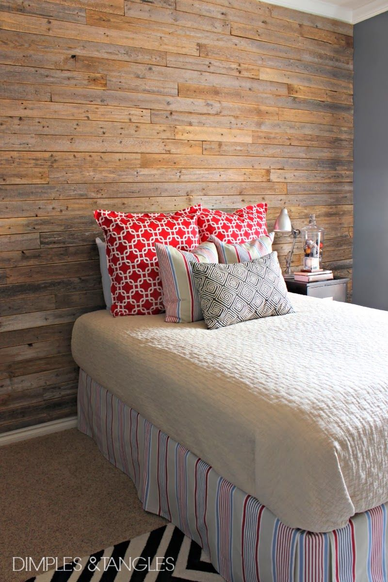 Plank Bedroom Furniture Dimples And Tangles Diy Wood Fence Plank Wall Tutorial Love
