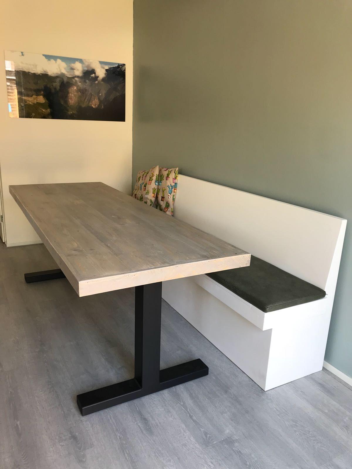 Woood Eettafel Bankje.Table Base Interior In 2019 Eettafel Bank Eetkamer En Eettafel