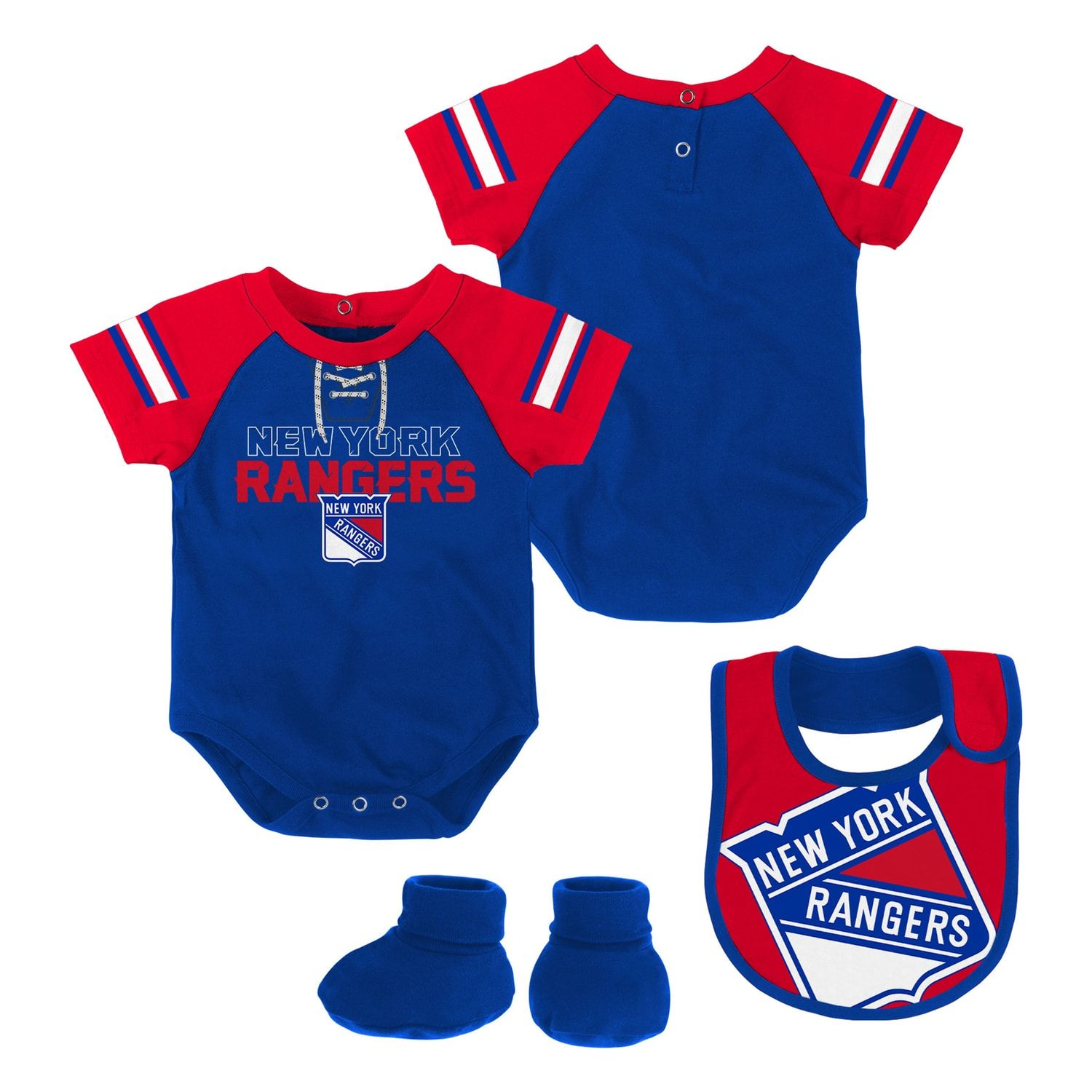 Ice & Roller Hockey Team Sports Nhl New York Rangers Bodysuit Romper Jumpsuit Outfits 3 Piece Set Newborn Kids 2019 New Fashion Style Online