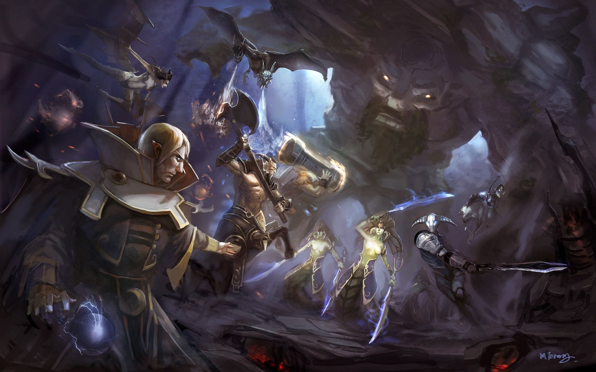 Ultra Hd Dota 2 Art 1920 1200 Dota 2 Dota2 Heroes Artwork