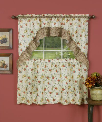 Achim Home Furnishings Classic Country Tier And Swag Set 57 Inch