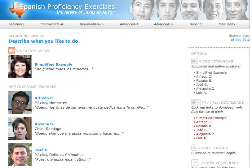 Spanish Proficiency Exercises by UT Austin by