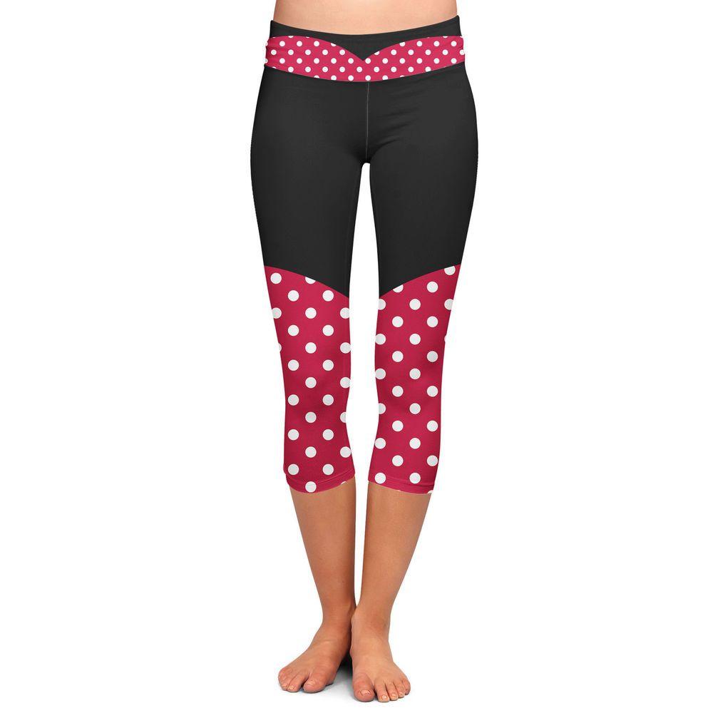 Minnie Rock The Dots Disney Inspired Yoga Leggings
