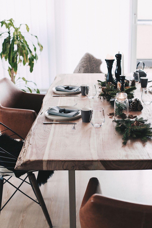 einfach aber stilvoll unser weihnachtlich gedeckter esstisch tischdeko weihnachten. Black Bedroom Furniture Sets. Home Design Ideas
