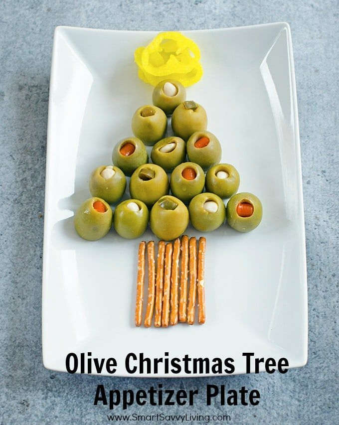 This Olive Christmas Tree Appetizer Plate is the perfect festive and