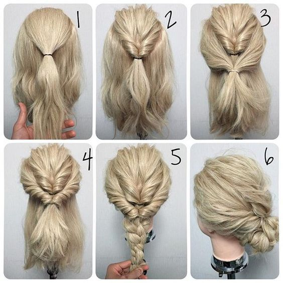Easy Hair Do But Can T Read The Language Lol Koees Answer Hair Styles Long Hair Styles Medium Hair Styles