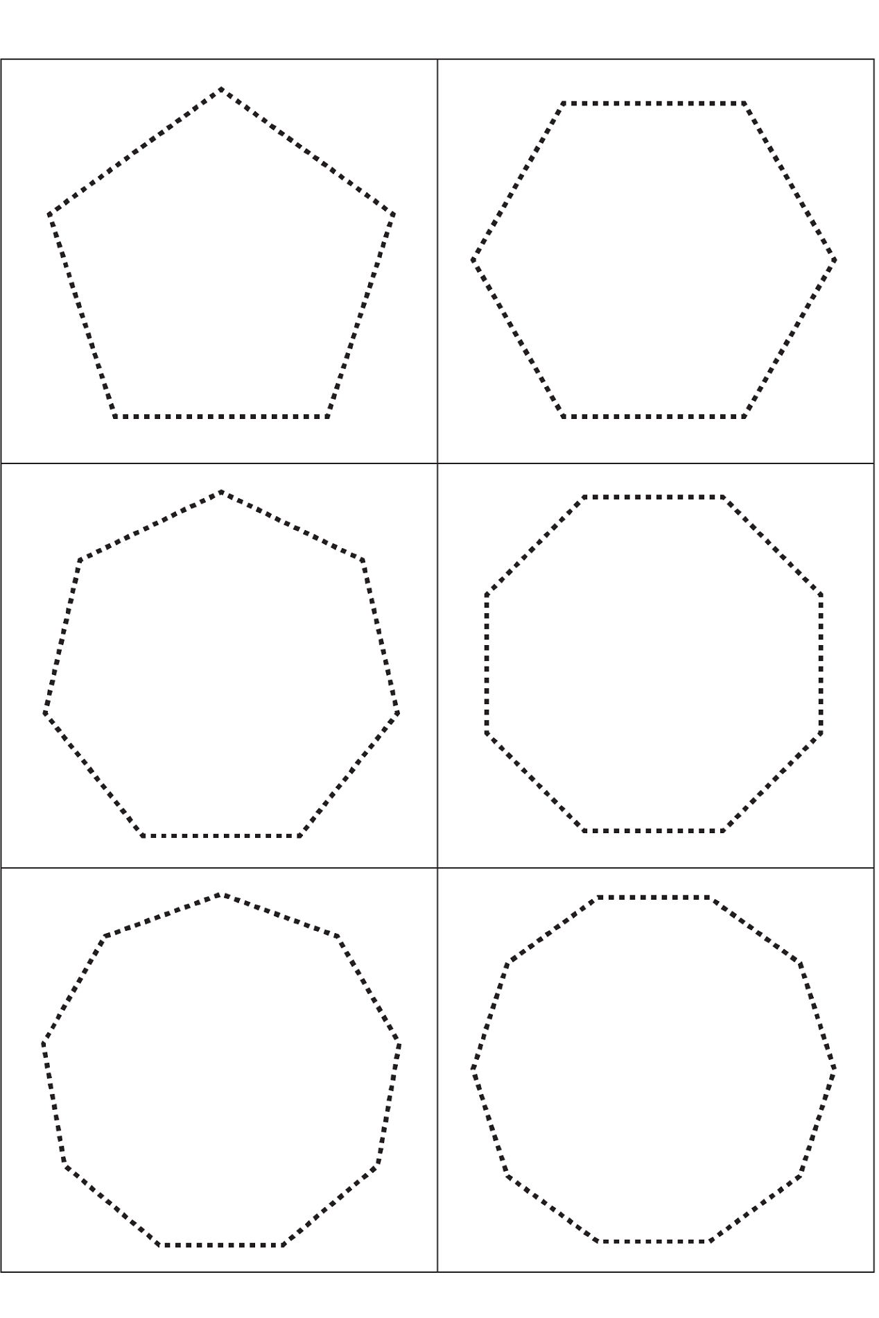 Shapes Worksheets For 3 Year Olds