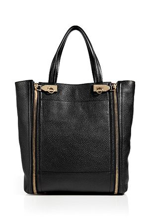Salvatore Ferragamo leather Suzanne tote in black Carteras, Bolsas,  Billetera De Michael Kors, 6049eb101e