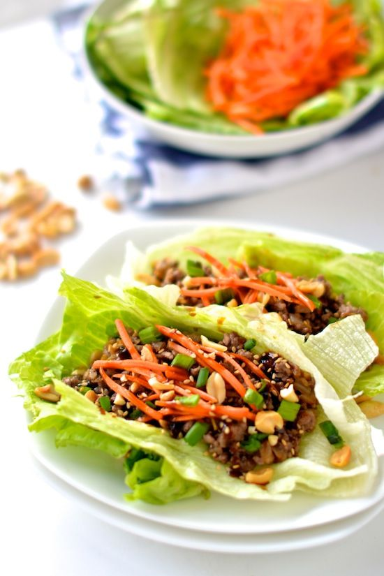 Healthy Asian Lettuce Wraps Apple Of My Eye Dinner With Ground Beef Beef Dinner Beef Recipes For Dinner