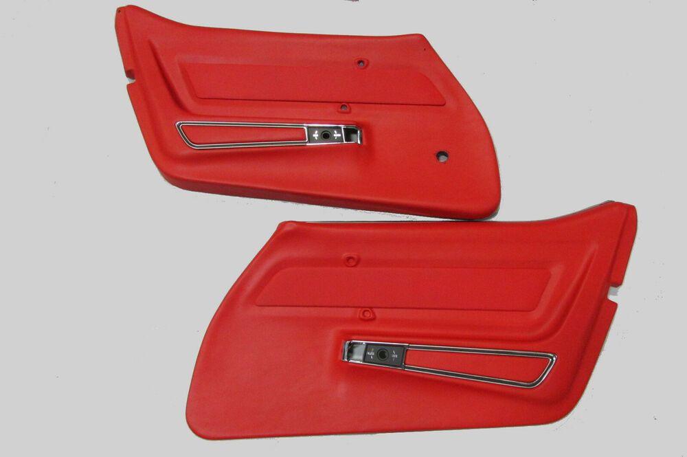Ad Ebay 1969 Corvette Red Door Panels Pair Deluxe Red Door 1969 Corvette Panel Doors