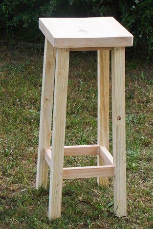 Banco de madera cuadrado buscar con google muebles for Bancos de bar de madera