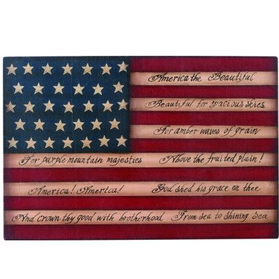 Wood American Flag Wall Hanging Material Wood Size 10 X 15 Americana Style Flag Wall D Americana Wall Hanging American Flag Wall Hanging American Flag Wood