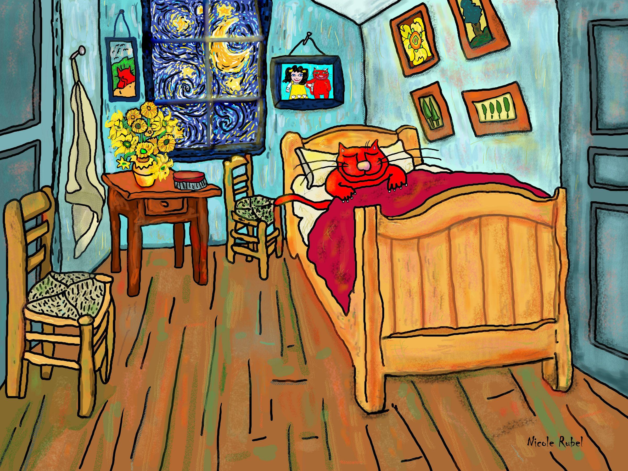 "Vincent van Gogh is the inspiration for ""Ralph van Gogh"