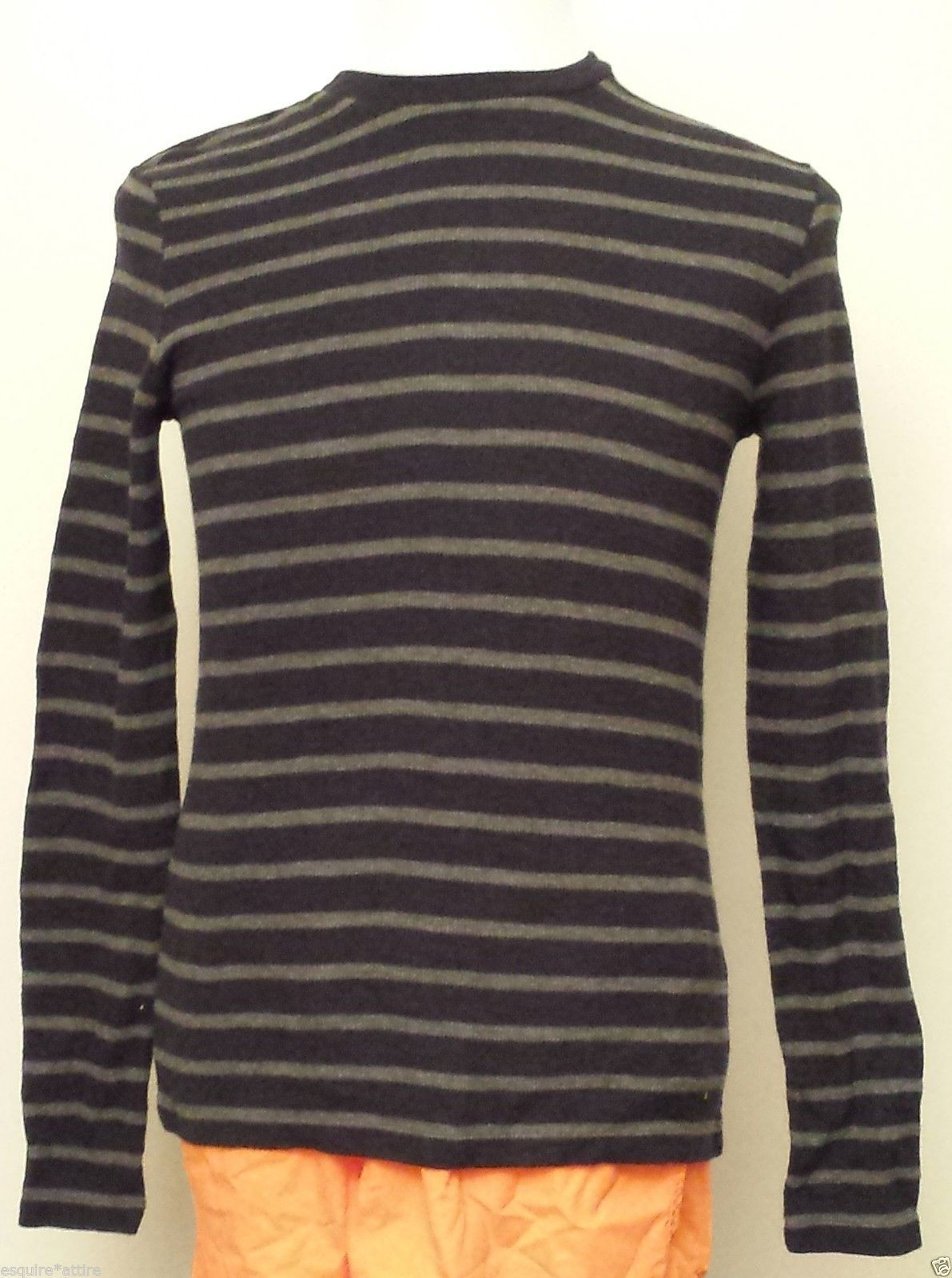 VINCE men size S cotton sweater stripes crewneck retail $120 visit ...