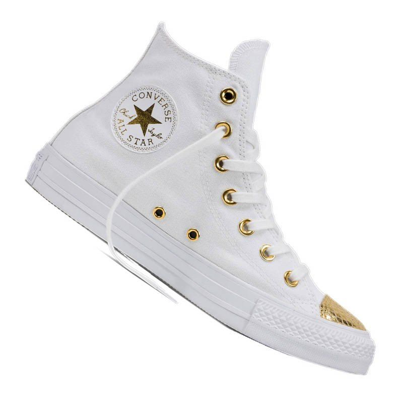 Converse Chuck Taylor AS Hi Damen Weiss Gold | Lifestyle | Damen ...