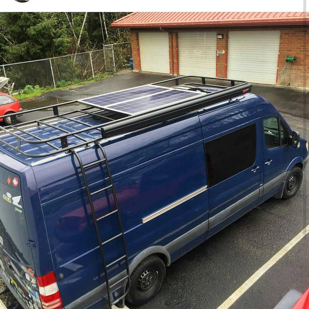 Nice Shot Of Aluminess Roof Rack From The Wonderbus Sprintervan Vanlife Roofrack Roof Rack Van Roof Racks Van Life