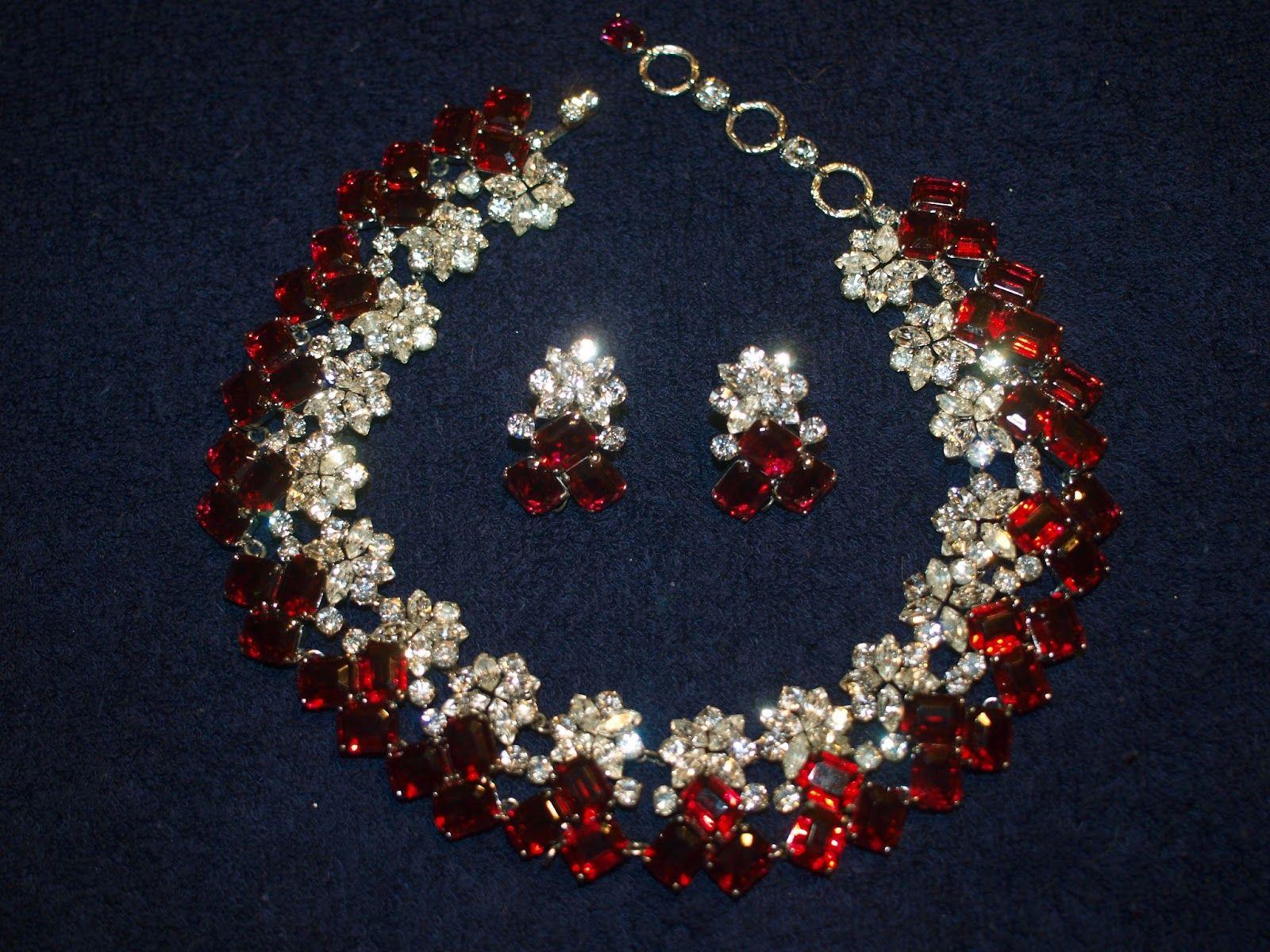 Vintage Christian Dior Rhinestone Jewellery DesignsNecklace Sets