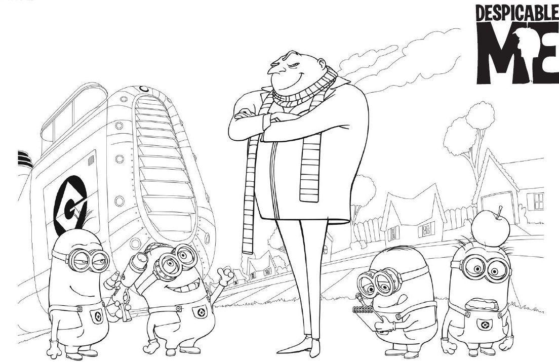 Kolorowanki Z Bajki Jak Ukrasc Ksiezyc Minion Coloring Pages Coloring Pages Fathers Day Coloring Page